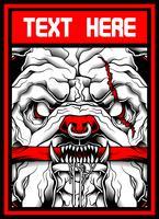 desenho de mão assustador animal -vector vetor