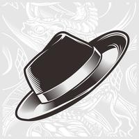 vetor de desenho de mão de chapéu