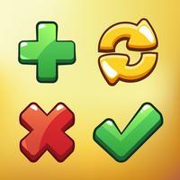 Cartoon Icon Different symbols asset Ilustração em vetor