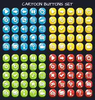 Botão de desenho animado conjunto pack de jogo, elemento GUI para jogo móvel vetor