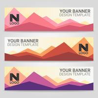 Fundo de modelo abstrato banner bonito, ilustração vetorial, Design para apresentação de negócios