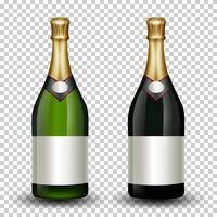 Conjunto de garrafa de champanhe diferente vetor