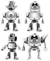 Conjunto de caracteres de robô vetor