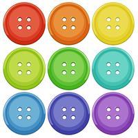 Conjunto de botão colorido vetor