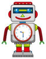 Um brinquedo de robô no fundo branco vetor