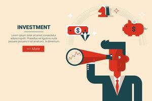 Conceito de estratégia de investimento vetor