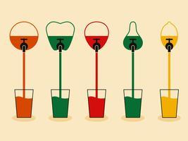 Sucos de fruta vetor