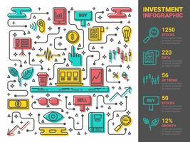 Infográfico de investimento
