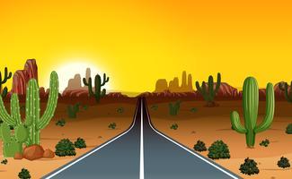 Uma viagem por estrada no oeste vetor