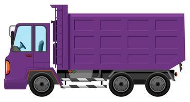 Um caminhão roxo no fundo branco vetor