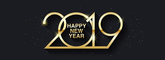 Feliz ano novo 2019 projeto de texto.