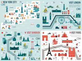 Cidade grande vetor