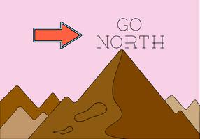 Norte vetor