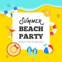 Horário de verão, ilustração em vetor festa praia verão