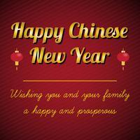 Feliz Ano Novo Chinês vetor