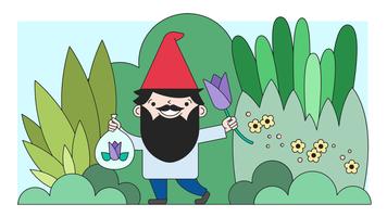Vetor de jardim do gnomo