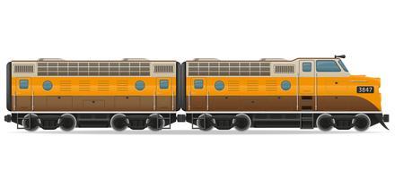 ilustração em vetor trem locomotiva ferroviária