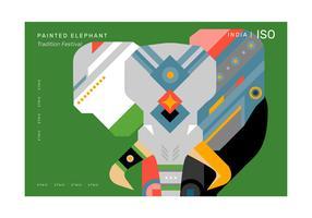 Padrão geométrico abstrato elefante Poster vector illustration