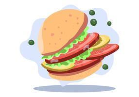 Hambúrgueres de Tomate como Comida Saudável vetor