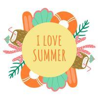 Fundo de verão bonito vetor