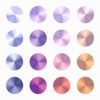 Conjunto de vetor de gradiente cônico de cor suave