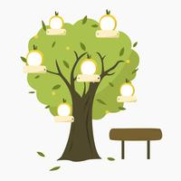 Vetor de árvore genealógica