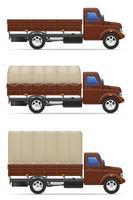 caminhão de carga para transporte de ilustração vetorial de mercadorias vetor