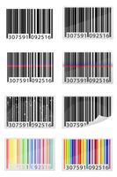 conjunto de ícones ilustração vetorial de código de barras