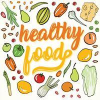Design de vetor de comida saudável