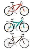 conjunto de ícones ilustração em vetor esportes bicicletas