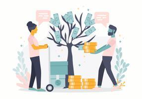 Ilustração em vetor investimentos conceito