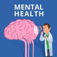 Saúde mental vetor