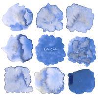 Fundo abstrato aquarela azul. Elemento de aquarela para cartão. Ilustração vetorial vetor