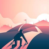 Desafio de sprint de metas corporativas vetor