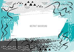 Cartões criativos artísticos com cursos da escova, fundo abstrato do curso da escova, ilustração do vetor.