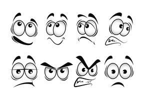 Olhos de desenho animado vector set