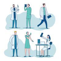 Personagem de pessoas de clínica de médico vetor
