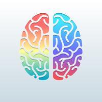 Conceito criativo da ilustração do cérebro humano vetor
