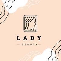 Logotipo de mulher para salão de beleza vetor