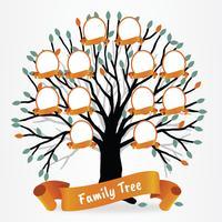 Desenho de vetor de árvore genealógica