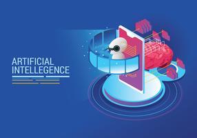 Conceito de inteligência artificial vetor