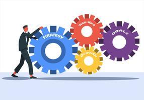 Objetivos Corporativos com Engrenagens vetor