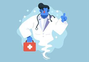 Personagem de Saúde e Genie Doctor vetor