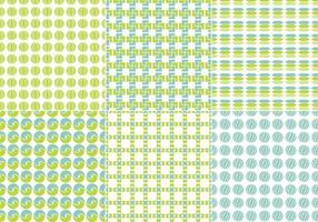 Pacote de padrões vetoriais sem costura azul e verde