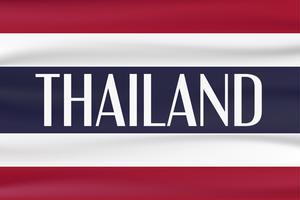 Bandeira de tipo novo do país de Tailândia com cor vermelha, azul e branca. vetor
