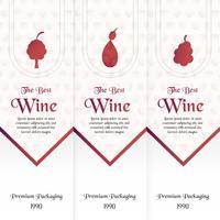 Modelo de embalagem de luxo em estilo moderno para cobertura de vinho, caixa de cerveja. Ilustração vetorial no conceito premium. Papel cortado e ofício EPS 10. vetor
