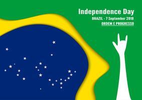Ilustração vetorial para o dia da independência de Brasil em 7 de setembro para o fundo comemorado. Em português chama-se 'Dia da Independência'. vetor