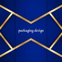 Modelo de embalagem de luxo em estilo moderno para cobertura de vinho, caixa de cerveja. Ilustração vetorial no conceito premium. EPS 10 vetor