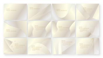 Fundo rosa abstrato com espaço de texto. Conjunto de modelo moderno para apresentação, web banner, capa de moda e brochura. Ilustração vetorial para convite, cartão de casamento e embalagens de luxo. vetor