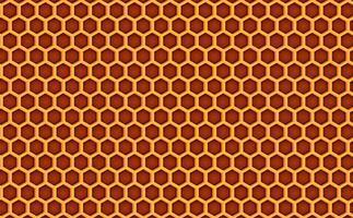 Fundo textured teste padrão da colmeia do pente do mel. Ilustração vetorial